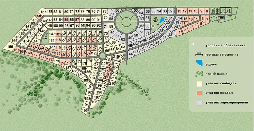 Схема проезда от МКАД по Новорижскому шоссе.  Смотри продаваемый дом на плане посёлка (участок 7) .